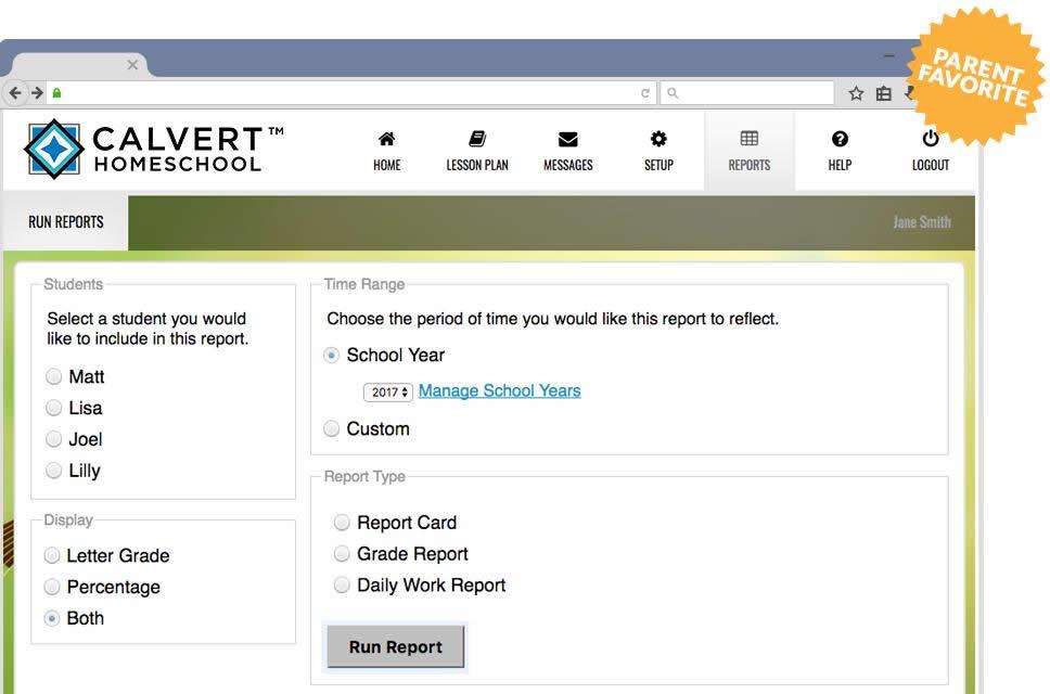 Calvert Online Free Trial